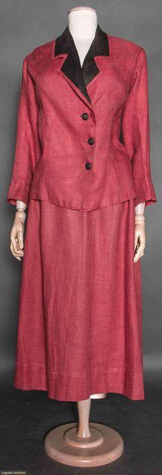 Walking Suit (image 1) | 1910 | linen | Augusta Auctions | April 8, 2015/Lot 90
