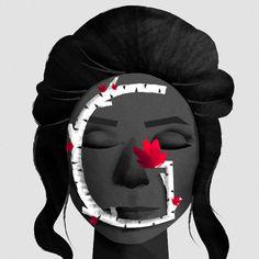 Illustration by Fabiola Correas #36daysoftype #36days_g #illustration #portrait #characterdesign #character