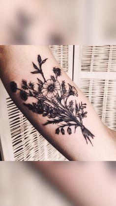 Quill Tattoo, Fern Tattoo, Plant Tattoo, Feminine Tattoos, Love Tattoos, Black Tattoos, Body Art Tattoos, Tattoo Fonts, Tattoo Quotes