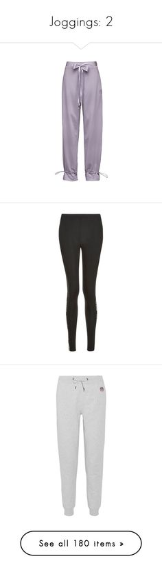 """""""Joggings: 2"""" by laurie-1994 ❤ liked on Polyvore featuring activewear, activewear pants, purple sweat pants, purple sweatpants, elastic sweatpants, sweat pants, pants, leggings, high waisted legging pants and high waist pants"""