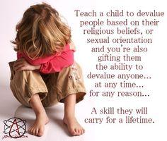 Teach a child...