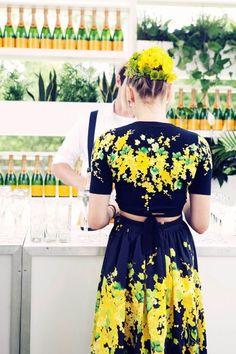 Flower dress.