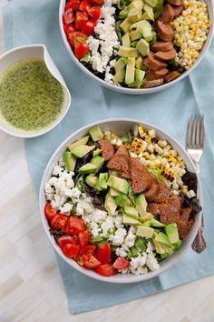 Mexican Chopped Salad with Chorizo, Avocado, and Cilantro Lime Dressing   Annie's Eats