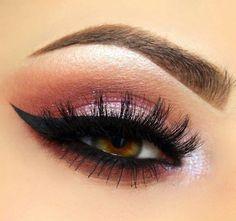 Pink Love Makeup, Makeup Looks, Makeup Eyes, Brows, Lashes, Brow Tutorial, Dramatic Look, Make Up, Fancy