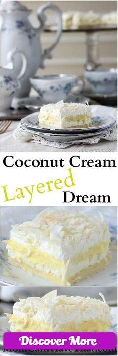 This low carb Coconut Layered Dessert is sugar free, gluten-free,  keto