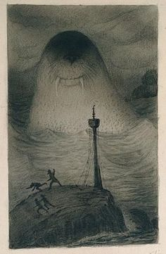Alfred Kubin: Sea monster.