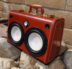 Vintage Suitcase Boombox Rechargable Glowing Speakers Samsonite by Hi-Fi Luggage Fully-Loaded on Etsy, $985.00