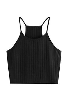 8f09435ae86 SheIn Women s Summer Basic Sexy Strappy Sleeveless Racerback Crop Top All  About Fashion
