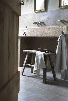 Long stone bathroom basin