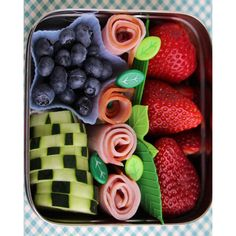 12 Super-Cool Kids' Bento-Box Lunches You Can Actually Make ❤ liked on Polyvore featuring food