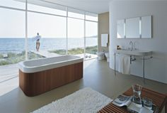 Hall Bath sink Duravit - Bathroom design series: Happy D. - washbasins, toilets, bidets, tubs, bath room furniture and accessories from Duravit.