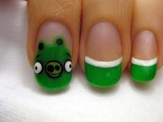 angry bird pig nails ^ ^