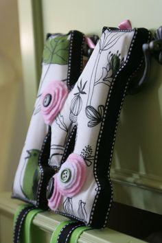 Hair Bow Holder  Custom w/Felt flowers by julesofmyheart on Etsy, $35.00