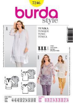 Patron de tunique - Burda 7246