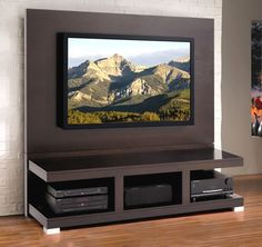 Home Entertainment Center.just needs white built-in around it