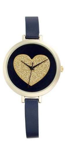 Glitter heart watch