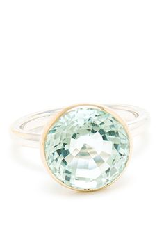 Marie-Hélène De Taillac White Gold and Aquamarine Ring, $6,148.56, available at Browns.  33 Quirky Engagement Rings For Alt Brides #refinery29