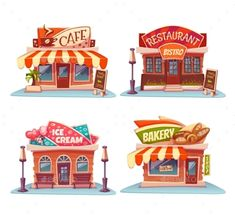 Cafe, Restaurant, Ice-cream Shop and Bakery