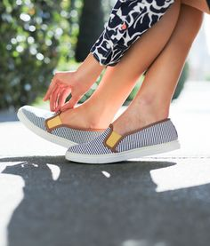 Mary Orton wears Boden slip-on trainers. February 2015. Might need these...