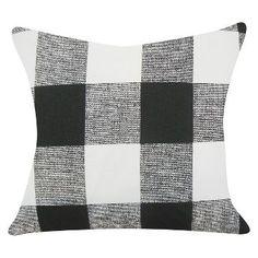 Black Buffalo Check Throw Pillow (18