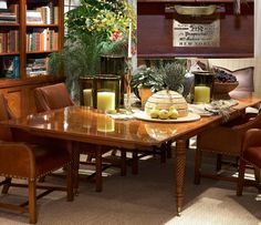 Pacific Heights Place Showroom With Acrylic Dining Table W96 D48 H30, With Ralph  Lauren Duke Dining Side Chairs In Distreu2026
