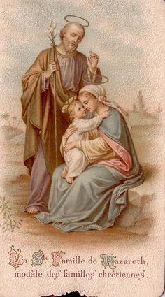 Images pieuses( La Sainte Famille )