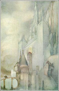 Parsifal, illustré par Willy Pogany (1912)  http://3.bp.blogspot.com/-bbLV5sdijxE/Ux5if6INA_I/AAAAAAACUHc/19u6WRRgKC8/s1600/49_parsifal_pogany_thespear.jpg
