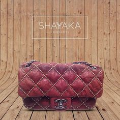Classic Chanel Red Lambskin Studded Small Flap Bag | Available Now for Immediate Delivery  For inquiries, please contact sales@shayyaka.com or +961 71 594 777 (Call, SMS, WhatsApp, or iMessage) or Direct Message on Instagram (@Shayyaka). Guaranteed 100% Authentic | Worldwide Shipping | Credit Cards or Bank Transfer
