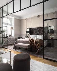 Decorate your bedroom for romance! Want to spice up your bedroom to let some romance in? Decorating your bedroom for romance doesn't even have to be difficult or expensive. Modern Bedroom, Minimalism Interior, Bedroom Inspirations, Home Bedroom, Bedroom Interior, Bedroom Design, Elegant Bedroom, Home Decor, Remodel Bedroom
