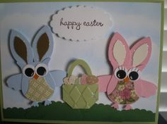 Stampin' Up!  Owl Punch  Easter Bunny