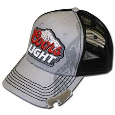 99dafaad64a56 Coors Light  Rocky Mountains  trucker hat. Comes with a bottle opener  attached to