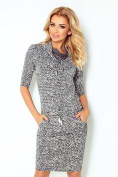 Numoco Sports dress with binding - dark gray + Subtitles Latest Fashion Trends, Trendy Fashion, Fashion News, Pink Cigarettes, Day Dresses, Dresses For Work, Fashion Company, Skirt Fashion, Modeling