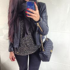 Leather and cheetah print!