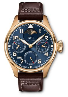 """With the Big Pilot's Watch Perpetual Calendar Edition """"Le Petit Prince"""" (Ref. IW502802) in 18k rose gold, IWC celebrates the 70th birthday of the popular story, ''The Little Prince,"""" written by Antoine de Saint-Exupéry. This limited edition of 270 pieces is the first IWC Big Pilot's Watch to incorporate a moon-phase display."""