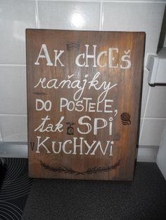 Tabuľka do kuchyne