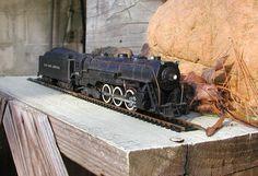 Vintage Model Train Engine HO Scale Gilbert American Flyer Engine and Tender. $52.75, via Etsy.