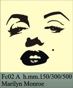 Marilyn Monroe Stencil | ... Italy) - Produzione stencil: maschere per stencil e decori per pareti