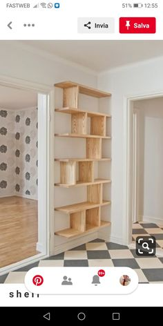 Diy Projects With Books, Cool Diy Projects, Diy Home Decor Bedroom, Diy Home Decor On A Budget, Wall Mounted Shelves, Wood Shelves, Home Fix, Quality Cabinets, Floating Shelves Diy