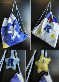 A little fabric bag for a boy named R