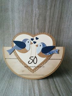 Colinda's blog: 50 jaar getrouwd Easy Paper Crafts, Diy And Crafts, Bird Cards, Marianne Design, Cool Cards, Homemade Cards, Wedding Cards, Cardmaking, Christmas Cards