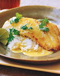 Orange Roughy on Rice with Thai-Spiced Coconut Sauce Recipe - Quick From Scratch Fish & Shellfish   Food & Wine