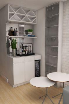 Home Bar wine Living Pequeños, Living Room Bar, Living Room Modern, Home Bar Sets, Home Wet Bar, Bars For Home, Apartment Bar, Bar Counter Design, Modern Home Bar