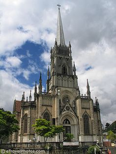 Cathedral of St. Peter of Alcantara, Petropolis, Brazil. Loved the stained glass windows!