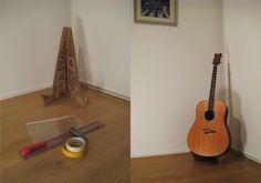 Cardboard Guitar Stand by Anthony Smith