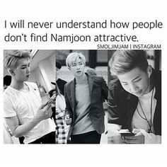 "2,351 Likes, 43 Comments - bangtan°™ (@stanjhobi) on Instagram: ""there is alot of ways that namjoon is attractive❤️""<<<I agree. And it's not just his looks either"
