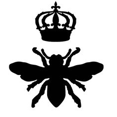 Queen Bee Picture Silhouette Silhouette Cameo, Silhouette Projects, Bee Images, Vintage Images, Vintage Art, Queen Bee Pictures, Do It Yourself Inspiration, Graphics Fairy, Free Graphics