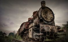 Abandoned train,  ultra lost