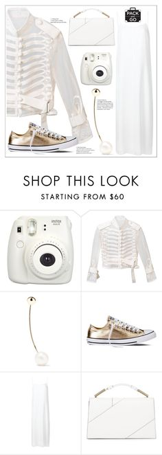 """""""White and Gold"""" by skad183 ❤ liked on Polyvore featuring Fujifilm, Sacai, Sophie Bille Brahe, Converse, T By Alexander Wang and Jason Wu"""