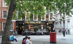 DUNHAVEN PLACE: The Sherlock Holmes Restaurant spotted on the way to the Embankment and the River Thames.