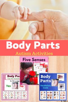 Body Parts Bundle for Autism, Special Ed, Speech Therapy, ABA, Occupational Therapy, TEACCH, ESL. This packet inlcudes lots of cards and activities that will help students learn about their body parts. It is useful for early age, kindergarten, preschool and students with autism. #bodyparts #bodypartsactivities #ESL #autismactivity #speechtherapy #specialeducation